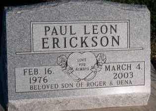 ERICKSON, PAUL LEON - Sioux County, Iowa   PAUL LEON ERICKSON