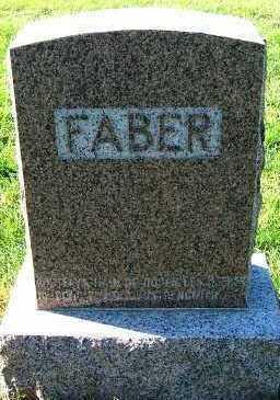 FABER, HEADSTONE - Sioux County, Iowa | HEADSTONE FABER