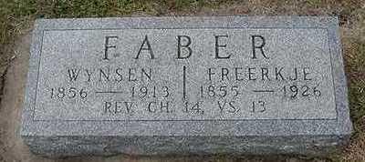 FABER, FREERKJE - Sioux County, Iowa | FREERKJE FABER