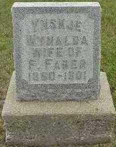 WYNALDA FABER, YNSKJE (MRS. F.) - Sioux County, Iowa | YNSKJE (MRS. F.) WYNALDA FABER