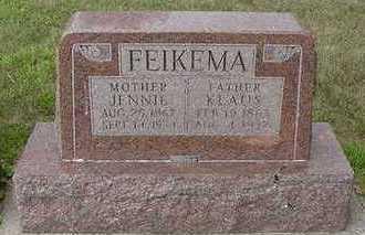 FEIKEMA, JENNIE - Sioux County, Iowa | JENNIE FEIKEMA