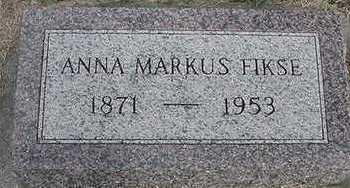 MARKUS FIKSE, ANNA - Sioux County, Iowa   ANNA MARKUS FIKSE