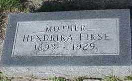 FIKSE, HENDRIKA - Sioux County, Iowa | HENDRIKA FIKSE