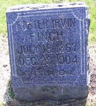 FINCH, FOSTER IRVIN - Sioux County, Iowa | FOSTER IRVIN FINCH