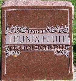 FLUIT, TEUNIS - Sioux County, Iowa | TEUNIS FLUIT