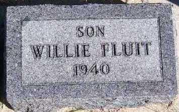 FLUIT, WILLIE - Sioux County, Iowa   WILLIE FLUIT