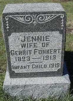FONKERT, JENNIE (MRS. GERRIT) - Sioux County, Iowa | JENNIE (MRS. GERRIT) FONKERT