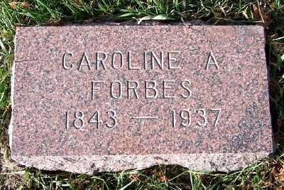 FORBES, CAROLINE A. - Sioux County, Iowa   CAROLINE A. FORBES