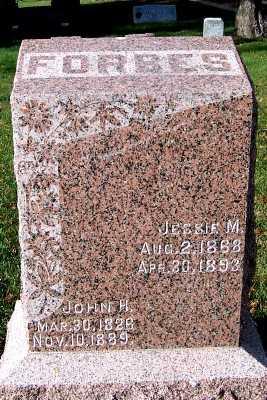 FORBES, JOHN H. - Sioux County, Iowa | JOHN H. FORBES