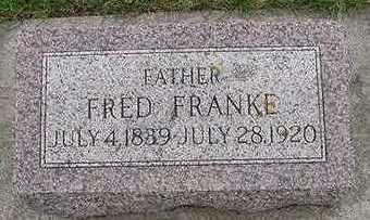 FRANKE, FRED D.1920 - Sioux County, Iowa   FRED D.1920 FRANKE