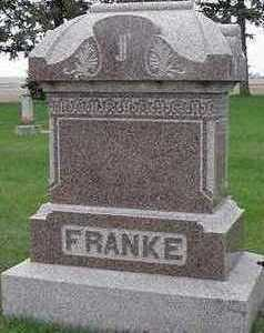 FRANKE, HEADSTONE - Sioux County, Iowa | HEADSTONE FRANKE