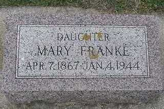 FRANKE, MARY - Sioux County, Iowa | MARY FRANKE