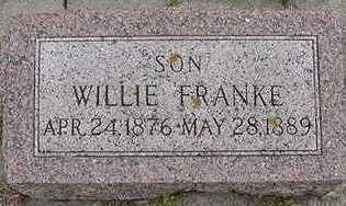 FRANKE, WILLIE - Sioux County, Iowa   WILLIE FRANKE