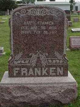 FRANKEN, AART - Sioux County, Iowa   AART FRANKEN