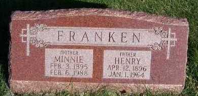FRANKEN, MINNIE - Sioux County, Iowa | MINNIE FRANKEN