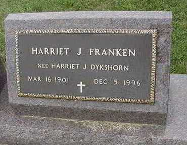 FRANKEN, HARRIET J. - Sioux County, Iowa | HARRIET J. FRANKEN