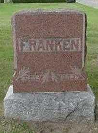 FRANKEN, HEADSTONE - Sioux County, Iowa | HEADSTONE FRANKEN