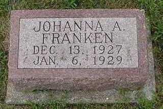 FRANKEN, JOHANNA A. - Sioux County, Iowa | JOHANNA A. FRANKEN