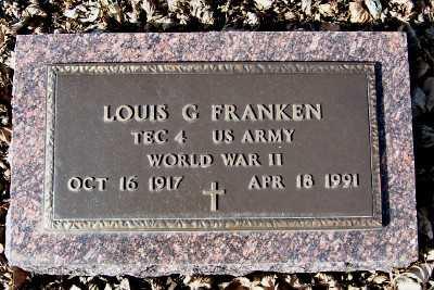 FRANKEN, LOUIS G. - Sioux County, Iowa   LOUIS G. FRANKEN