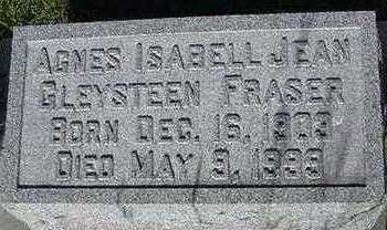 FRASER, AGNES ISABELL JEAN - Sioux County, Iowa | AGNES ISABELL JEAN FRASER
