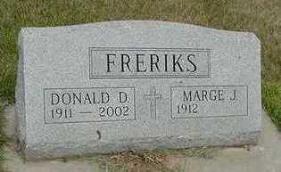 FRERIKS, DONALD D. - Sioux County, Iowa | DONALD D. FRERIKS