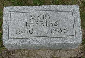 FRERIKS, MARY - Sioux County, Iowa | MARY FRERIKS