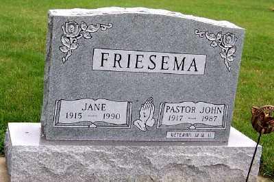 FRIESEMA, JOHN - Sioux County, Iowa | JOHN FRIESEMA