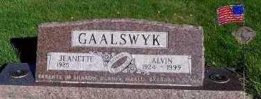 GAALSWYK, ALVIN - Sioux County, Iowa   ALVIN GAALSWYK