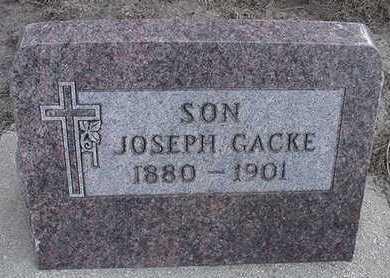 GACKE, JOSEPH - Sioux County, Iowa   JOSEPH GACKE