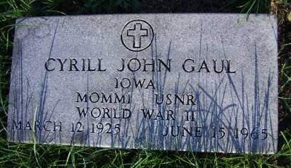 GAUL, CYRILL JOHN - Sioux County, Iowa | CYRILL JOHN GAUL