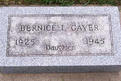 GAYER, BERNICE L. - Sioux County, Iowa | BERNICE L. GAYER