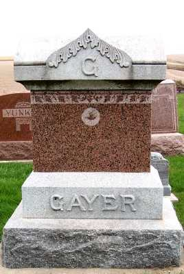 GAYER, HEADSTONE - Sioux County, Iowa   HEADSTONE GAYER