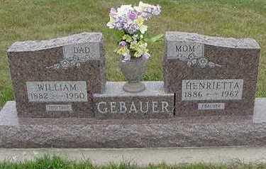 GEBAUER, HENRIETTA - Sioux County, Iowa | HENRIETTA GEBAUER