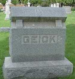 GEICK, HEADSTONE - Sioux County, Iowa   HEADSTONE GEICK