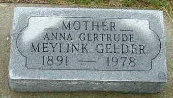 MEYLINK, ANNA GERTRUDE - Sioux County, Iowa | ANNA GERTRUDE MEYLINK