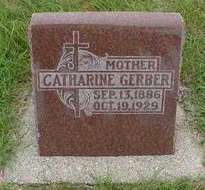 GERBER, CATHERINE - Sioux County, Iowa   CATHERINE GERBER