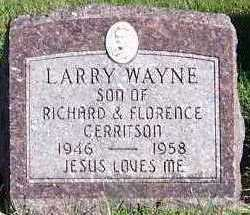 GERRITSON, LARRY WAYNE - Sioux County, Iowa | LARRY WAYNE GERRITSON