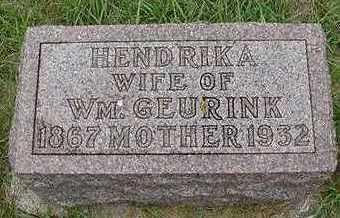 GEURINK, HENDRIKA - Sioux County, Iowa | HENDRIKA GEURINK