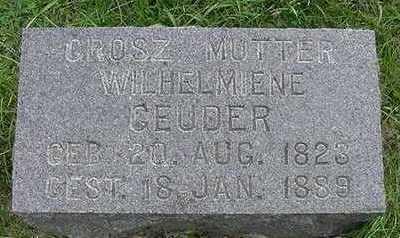 GEUTER, WILHELMIENE - Sioux County, Iowa   WILHELMIENE GEUTER