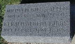 GIBBS, GERALD ALBERT - Sioux County, Iowa | GERALD ALBERT GIBBS