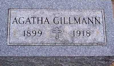 GILLMANN, AGATHA - Sioux County, Iowa   AGATHA GILLMANN