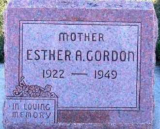 GORDON, ESTHER A. - Sioux County, Iowa | ESTHER A. GORDON