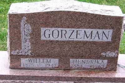 GORZEMAN, WILLEM - Sioux County, Iowa | WILLEM GORZEMAN