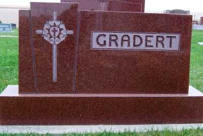 GRADERT, HEADSTONE - Sioux County, Iowa | HEADSTONE GRADERT
