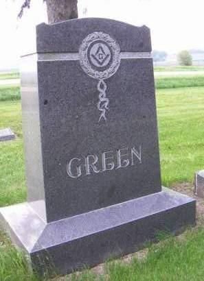 GREEN, HEADSTONE - Sioux County, Iowa | HEADSTONE GREEN