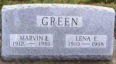 GREEN, LENA E. - Sioux County, Iowa | LENA E. GREEN