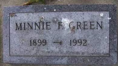 GREEN, MINNIE F. - Sioux County, Iowa | MINNIE F. GREEN