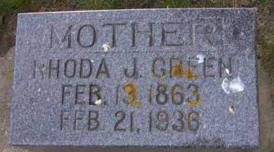 GREEN, RHODA J. - Sioux County, Iowa | RHODA J. GREEN