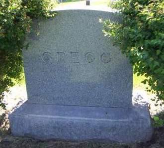 GREGG, HEADSTONE - Sioux County, Iowa   HEADSTONE GREGG