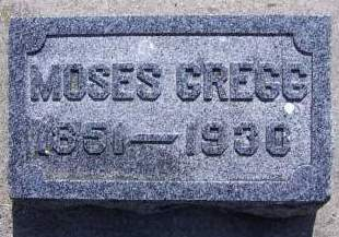 GREGG, MOSES - Sioux County, Iowa | MOSES GREGG
